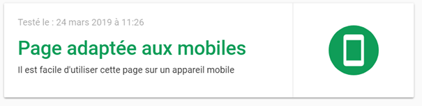 Outils de test mobile friendly de Google