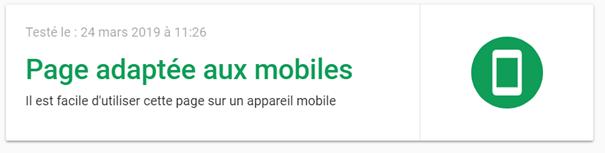 Outils de test mobile friendly de Google