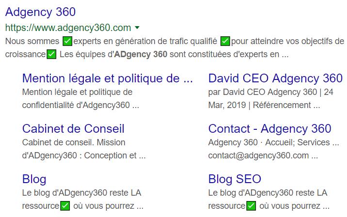 Résultats de recherche adgency 360