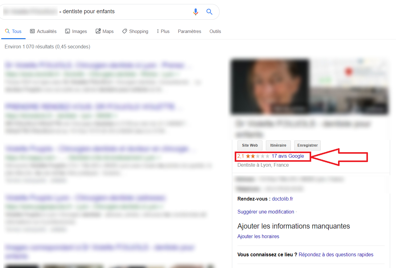 Fiche Google my business - Agence d'e-reputation