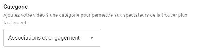 catégorie video youtube